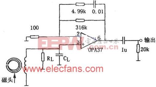 OPA37设计的磁头前置放大器电路