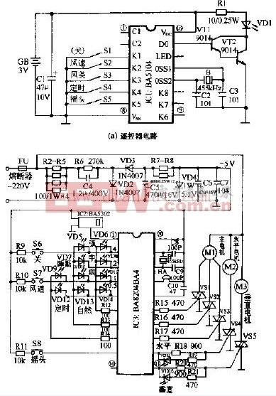 长城FS38-40电脑控制落地扇电路设计