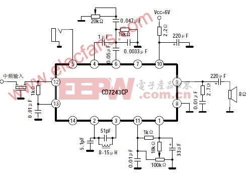CD7243CP应用线路