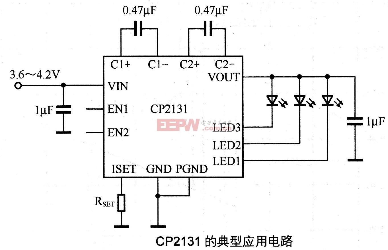 CP2131的典型应用电路