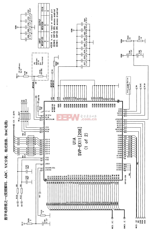 康佳P29ST217型高清数字CRT彩色电视机电路原理图(4)
