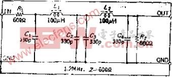 设计简便的高频用定K型LC低通滤波器