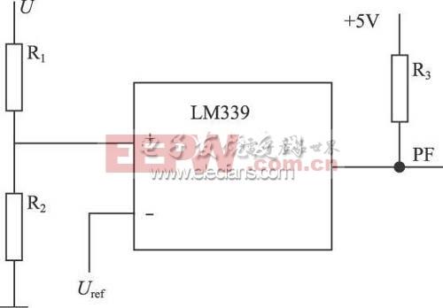LM339电压比较器构成的欠压保护电路