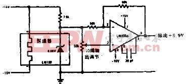 精密基准双极性输出基准电压源电路图