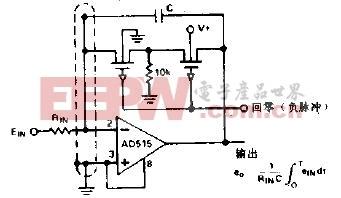 低漂移积分器和有保护的低漏电回零电路图
