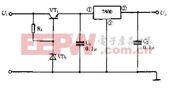 简单串联稳压电路图 -保护电路图图片