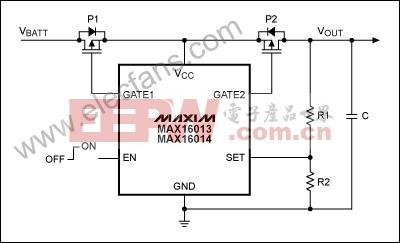 MAX16013/MAX16014过压保护/检测电路