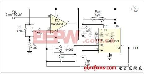 电压-频率转换器(VFC)电路