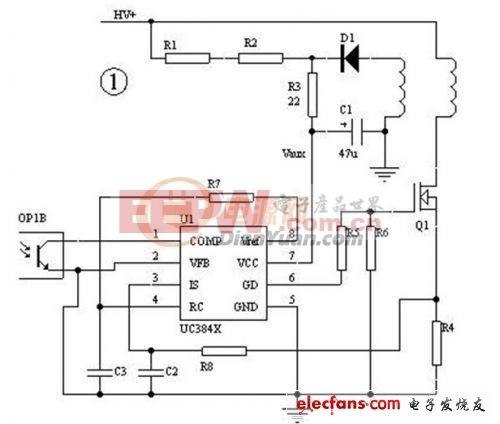 UC3842电路的保护问题