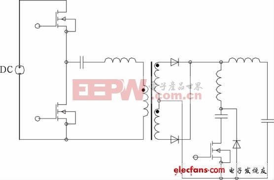 对称PWM控制ZCS半桥变换器原理图