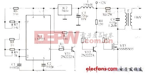 直-交流电源(10kv)转换电路原理图