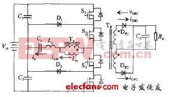 三电平LLC谐振变换器原理图