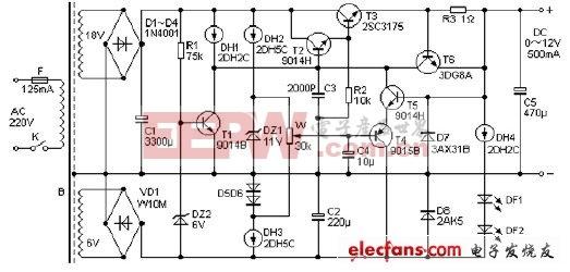 700mA稳压电源电路