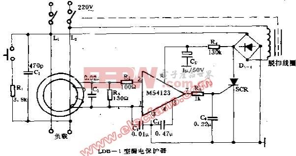 ldb 1型漏电保护器电路 电路图 电子产品世界 高清图片