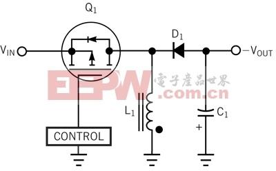 这一回扫拓朴结构可利用正输入电压产生负输出电压