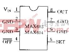 MAX603 MAX604管脚配置