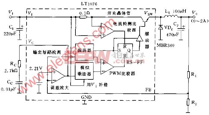 LT1076的基本使用方法电路