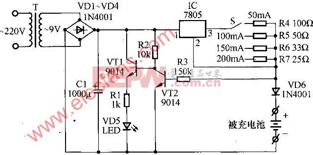 7805 5v稳压电路图图片
