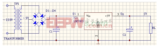 lm7805稳压电路