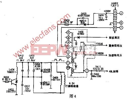 视放电路的电源供电电路