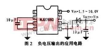 nju7660构成的负电压输出电路