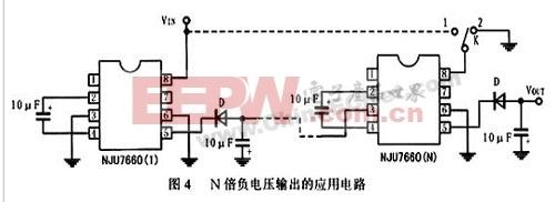 n倍负电压输出的应用电路