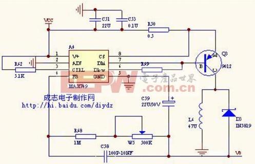 MAX749负电压产生电路