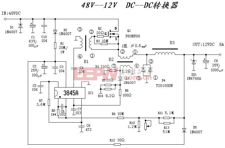 DC-DC转换器原理图