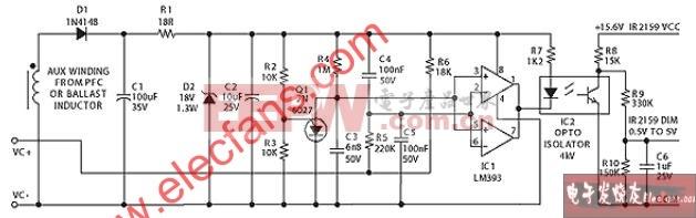输出1至10V直流控制电压的电路图
