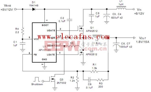 精英K8M890M主板内存供电电路图