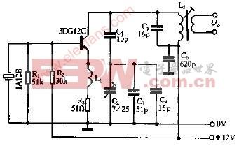 27MHz晶体振荡电路图