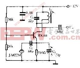 44MHz晶体振荡电路图