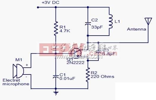 微型调频发射机电路图