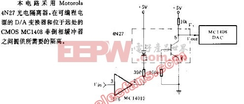 DA变换器的1500V隔离电路