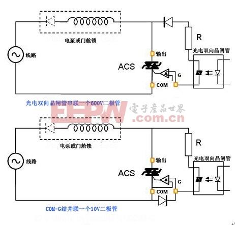 双向晶闸管实现ACS交流开关触发电路