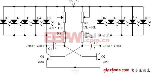 广告彩灯电路原理图