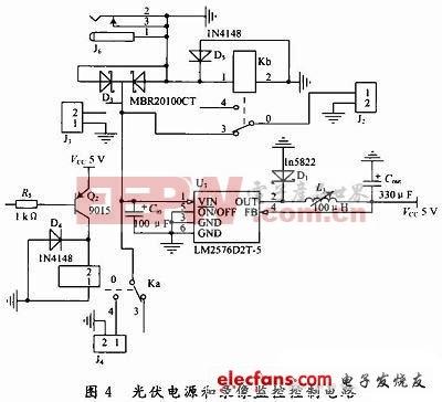 光伏电源和录像监控控制电路