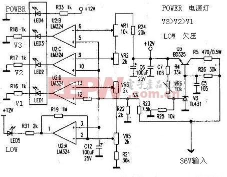电动车上使用的电量指示电路