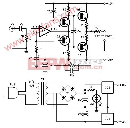 耳机放大器电路 (Headphone Amplifier)