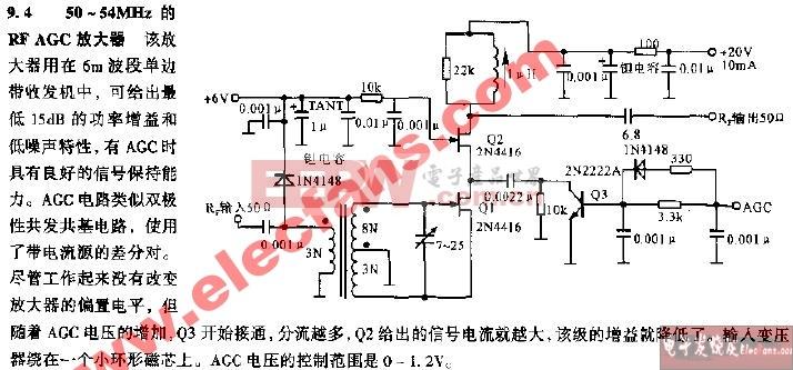 50~54MHz的RF AGC放在器电路