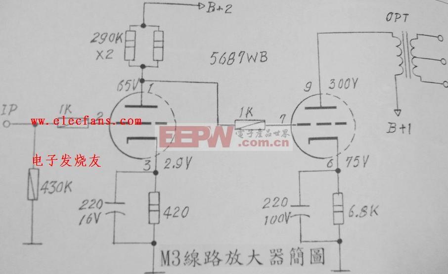 m3線電路放大器電路圖