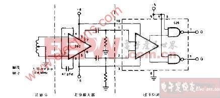 磁盘磁带机相位调制回读系统电路图