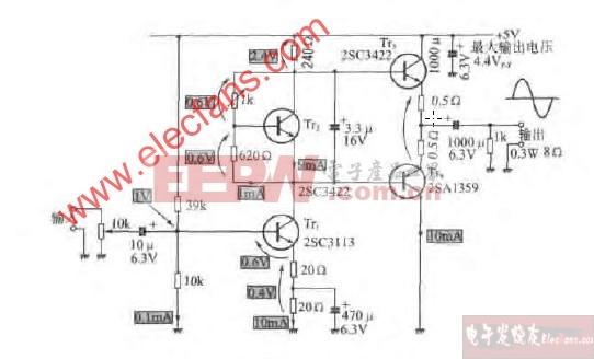 微小型功率放大器电路图