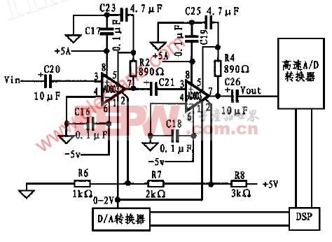 AD603构成的程控增益放大器