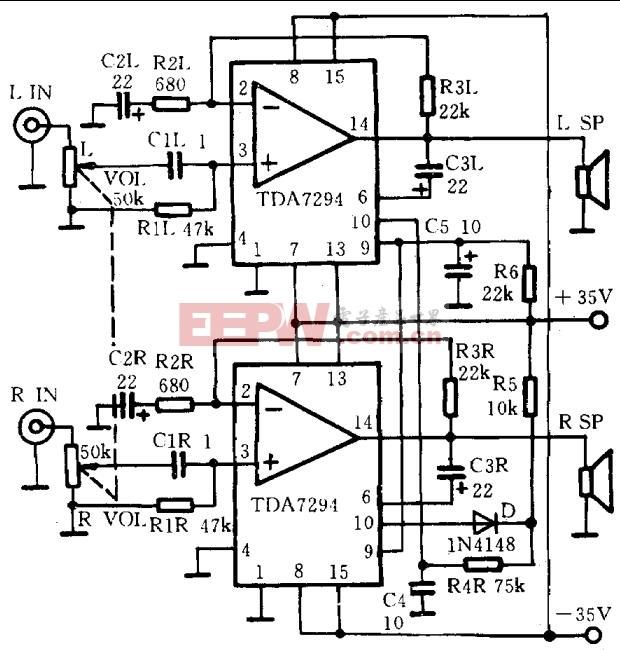 TDA7294功率放大电路