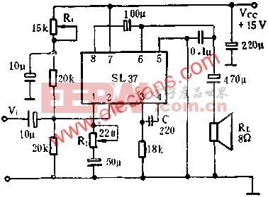 SL37音频功率放大电路的应用