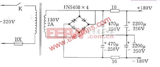 OTL电子管功放电源电路图图片
