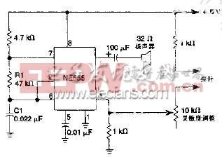 如图所示为发声式连续性测试仪电路