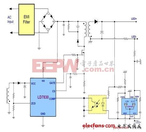 LD7830的典型应用电路图