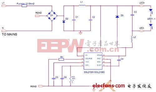 SSL21081典型应用电路